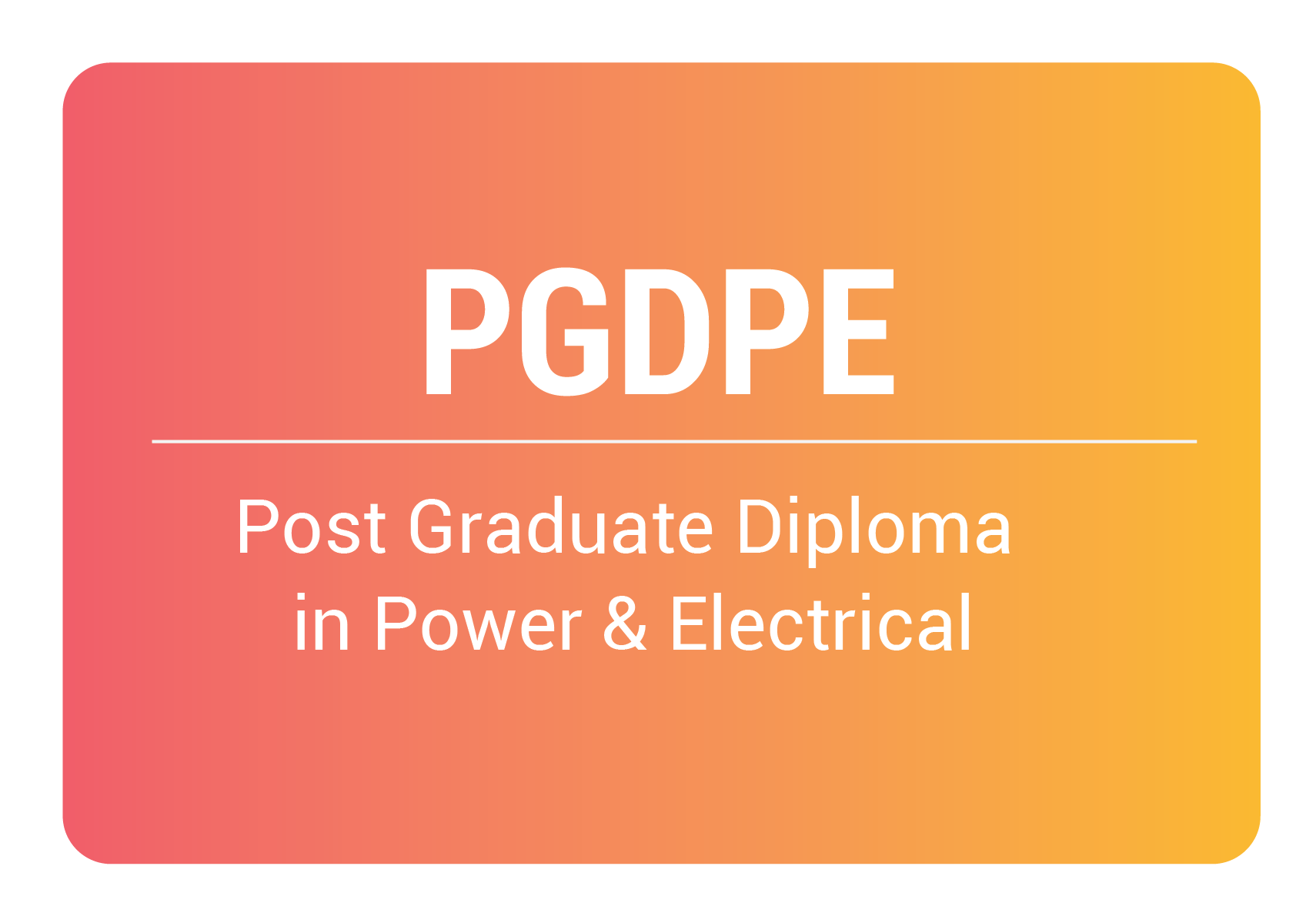 post graduate diploma in power and electrical online training