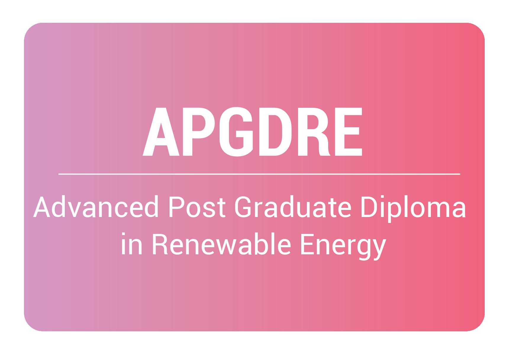 advanced post graduate diploma in renewable energy online training