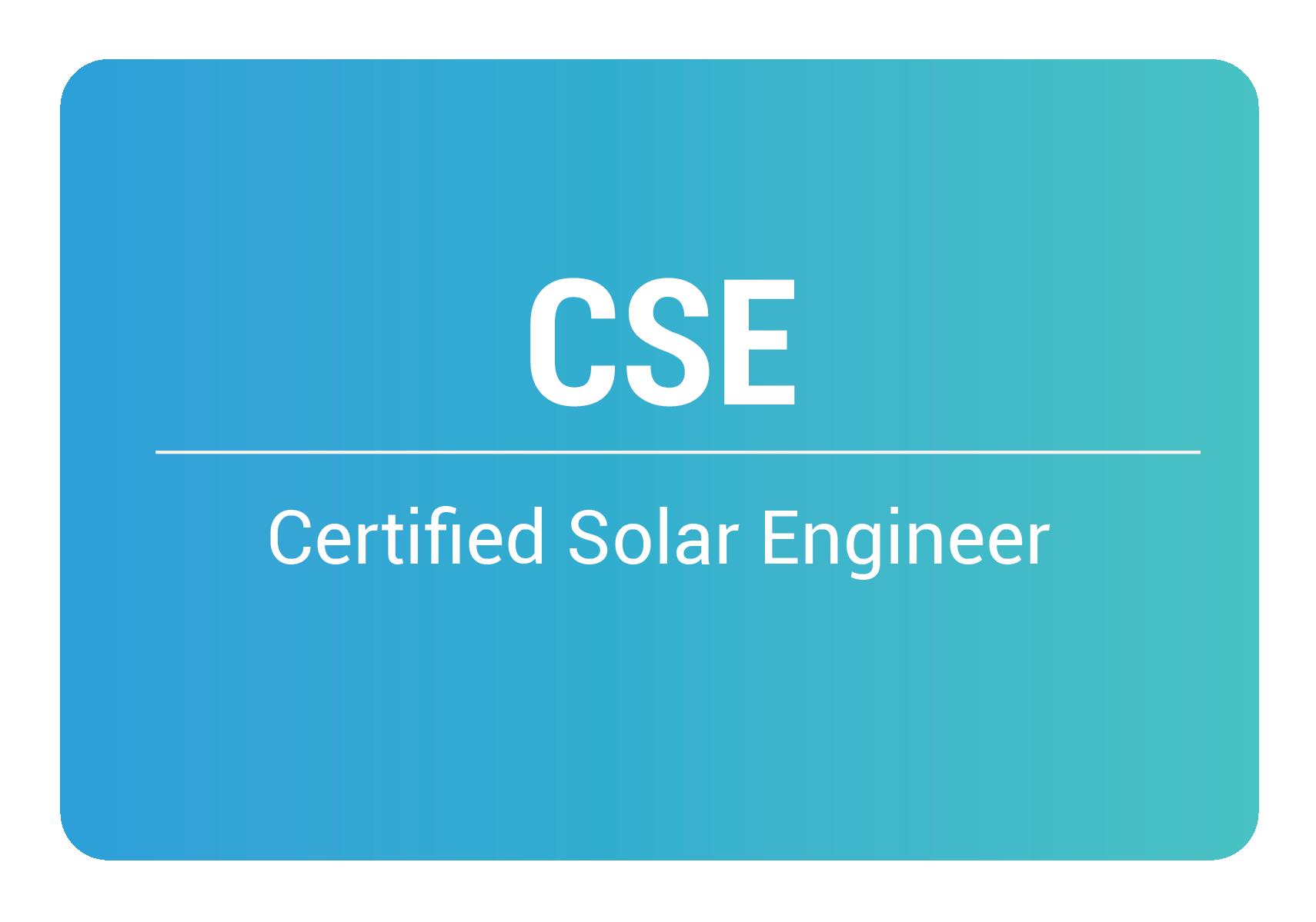 certified solar engineer online training