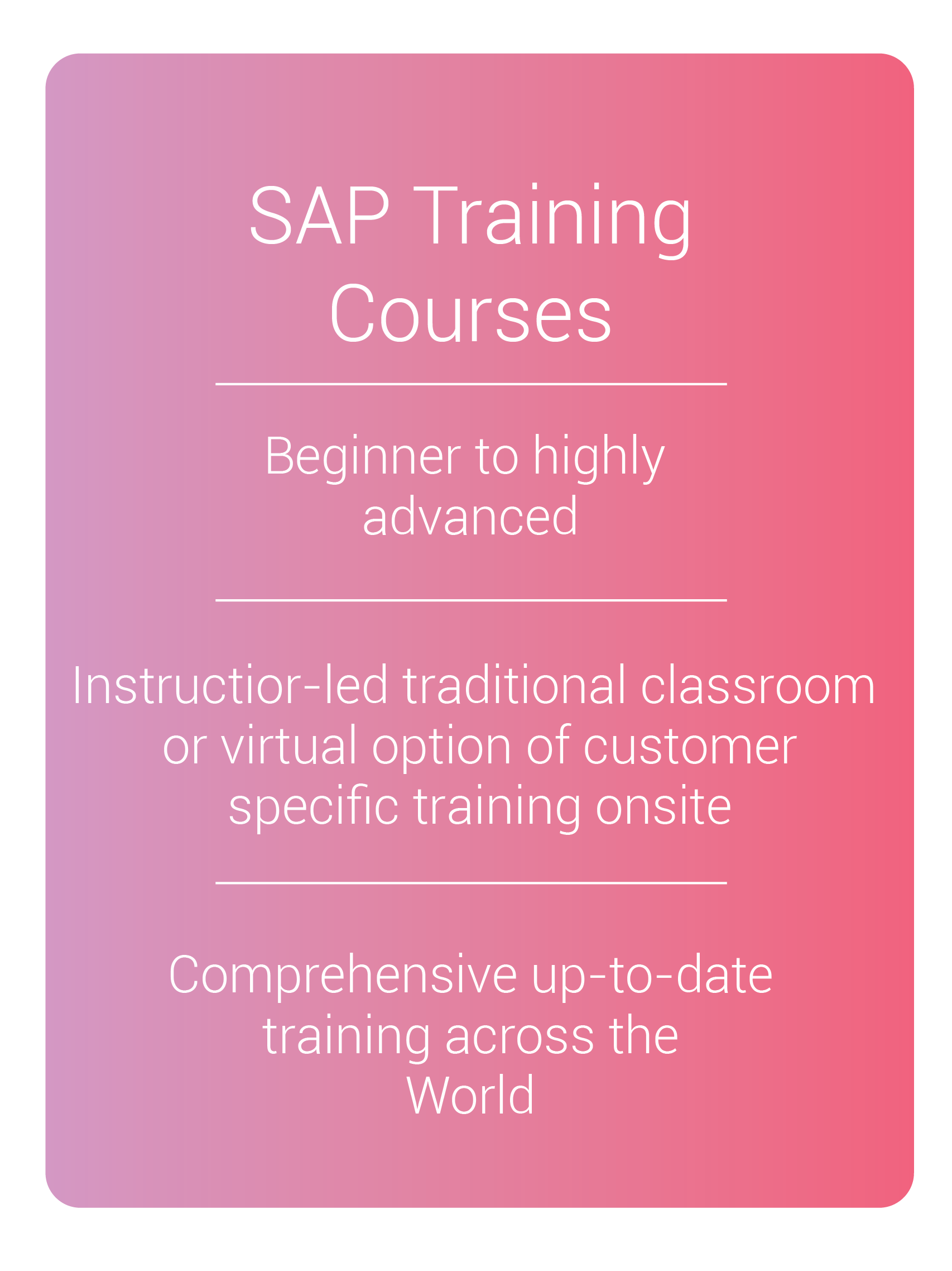 sap online training course