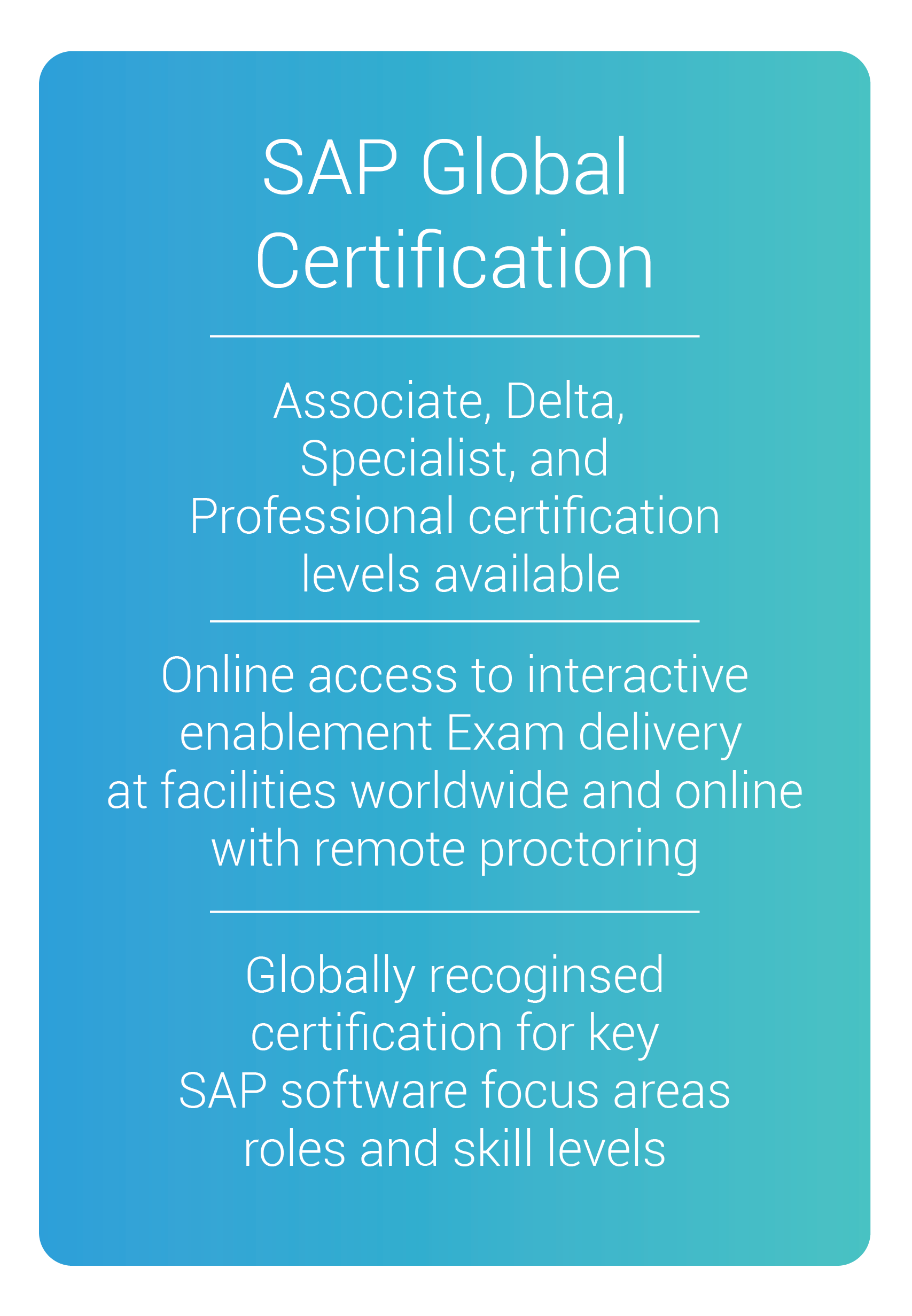 sap global certification online training