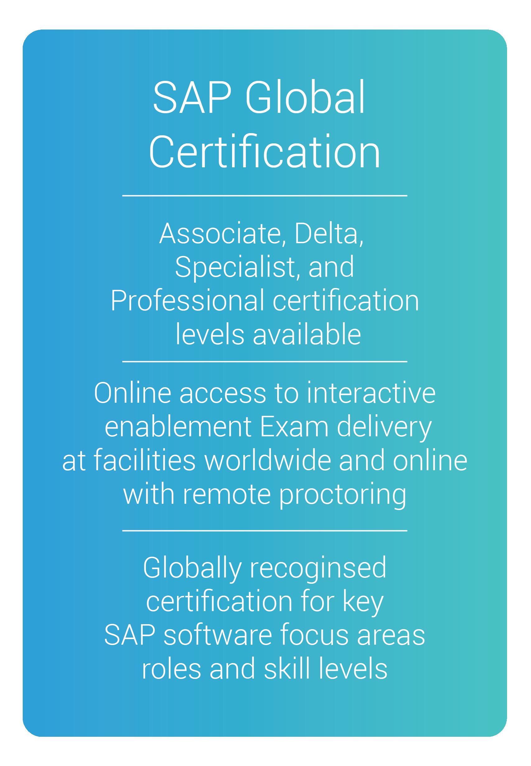 sap global certification online training