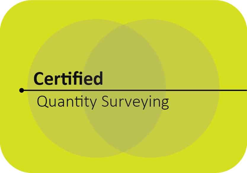 certified quantity surveying training