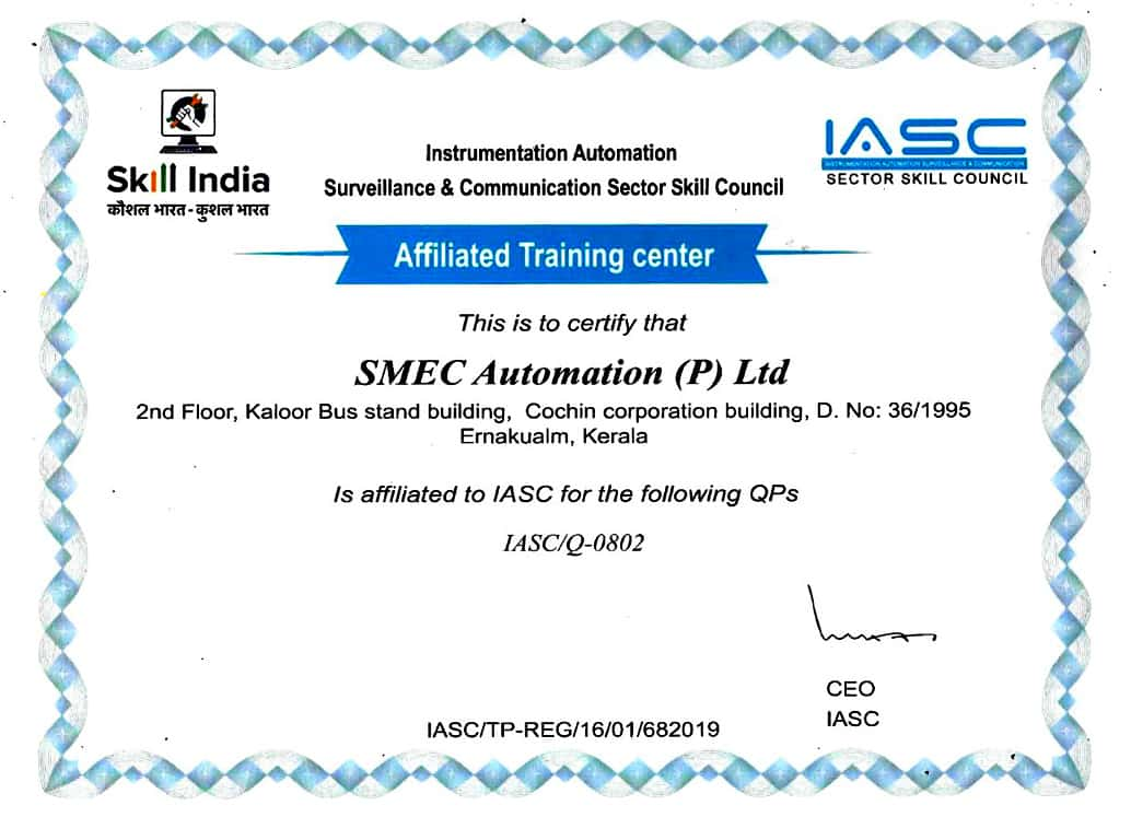 iasc certification smeclabs