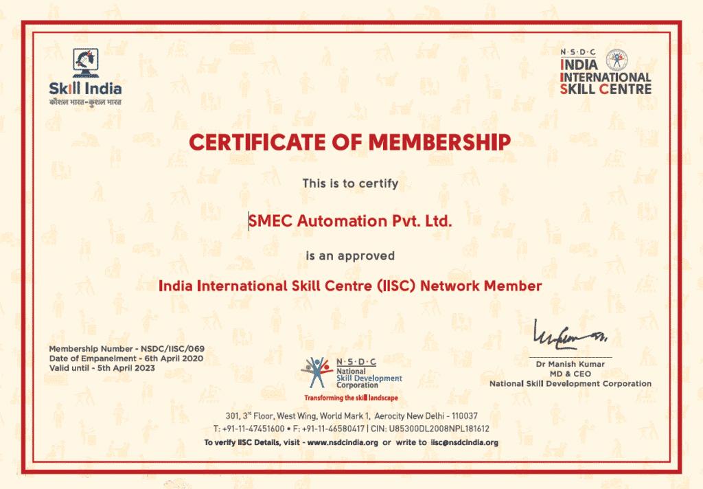 iisc india international skill center network member