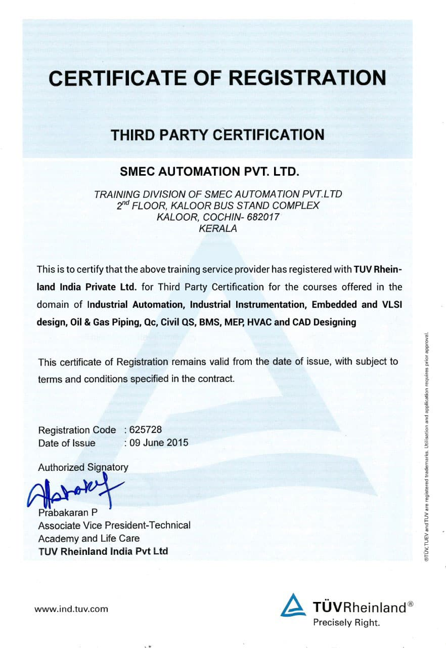 TUV Rheinland certification smeclabs
