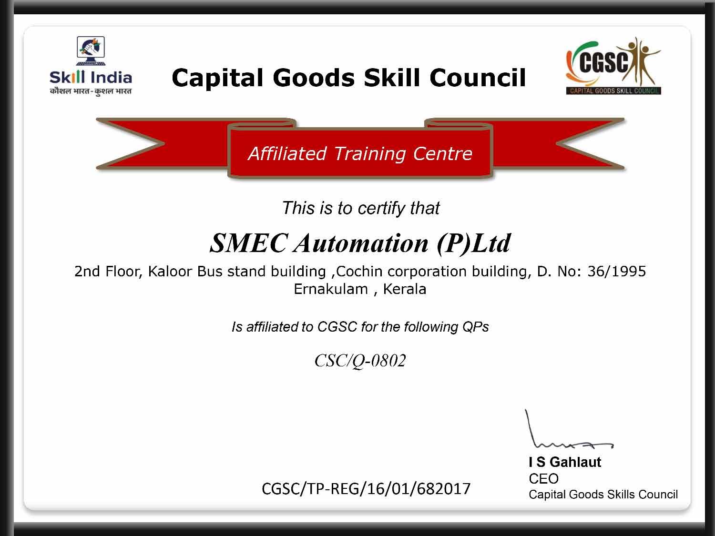 SMEC Certifications